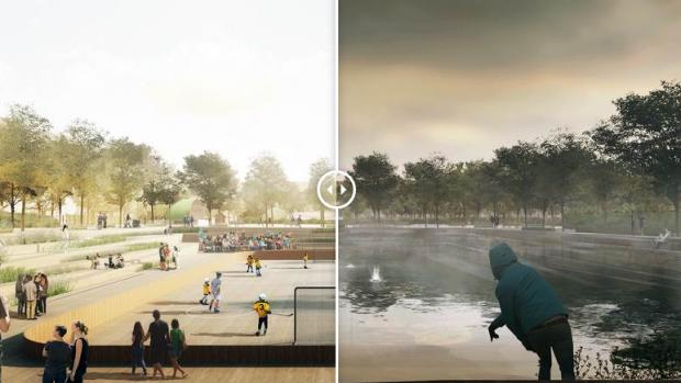 Kopenhagen maakt van klimaatnood een deugd met dit park
