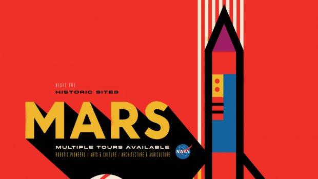 NASA laat prachtige posters voor ruimtetoerisme maken