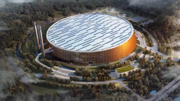 China gaat met dit gebouw afval omzetten naar energie