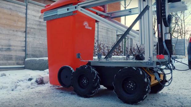 Robotwagentje vervangt vuilnisman