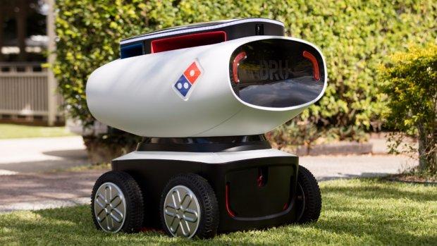 1 april? Domino's wil pizza bezorgen met zelfrijdend karretje