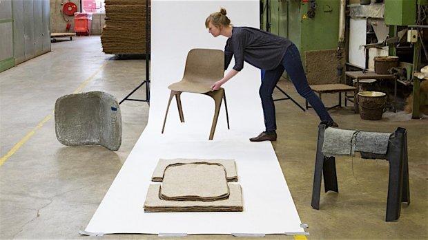 Duurzame designstoel heeft helemaal geen restafval