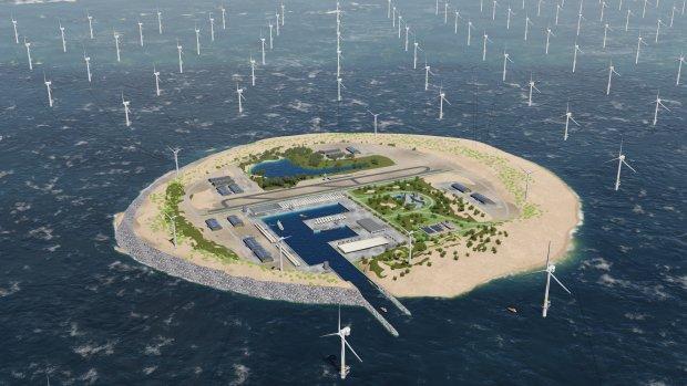 Ei van Columbus: windmoleneiland midden op zee