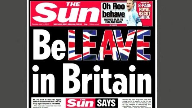 The Sun roept Britten op om voor Brexit te stemmen