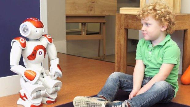 Robot Robin leert peuters Engels
