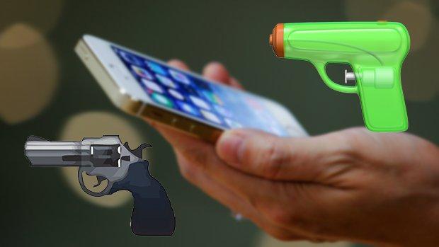 Apple vervangt emoji pistool door waterpistool
