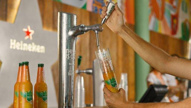 Heineken test met watertap: gratis water bij je biertje?