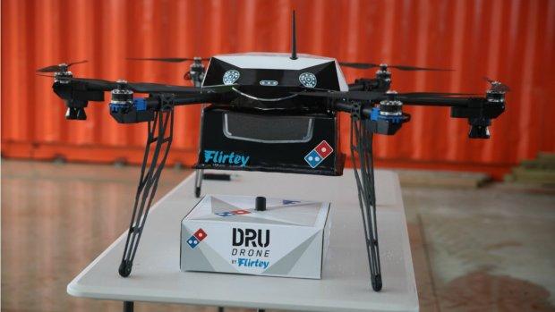 Na een pizzarobot nu ook bezorgdrone voor Domino's