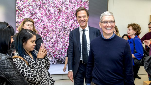 Apple en Google vragen Rutte om belastingverlaging