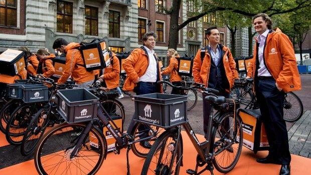 Moeder Thuisbezorgd.nl voor 23 euro naar de beurs
