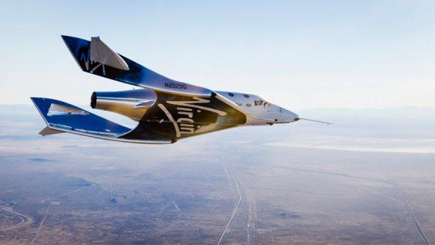 Nieuw ruimtevliegtuig van Virgin Galactic maakt eerste zweefvlucht