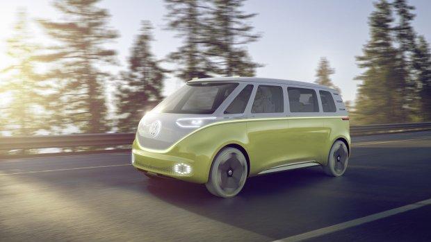 Volkswagenbusje nieuwe stijl: elektrisch en autonoom