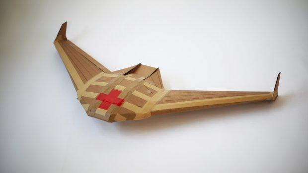 Drone van karton kan levensreddende medicijnen bezorgen