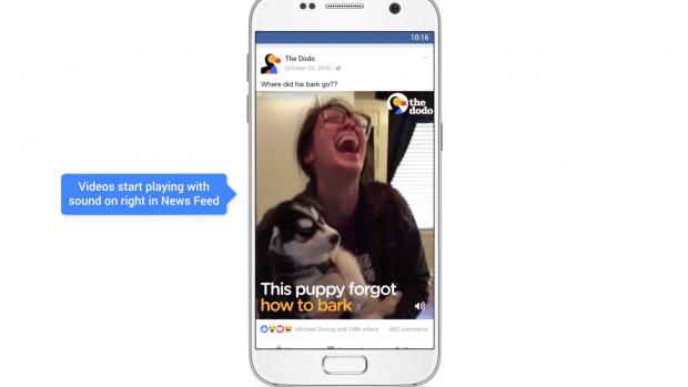 Facebook-video's krijgen standaard geluid na 'positieve feedback'