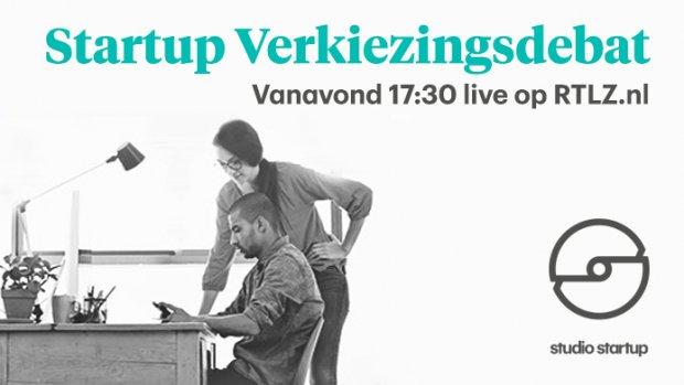 Het Startupverkiezingsdebat: live om 17.30 uur