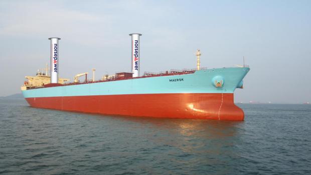 Heel modern: zeeschepen op windenergie