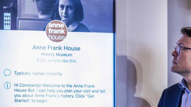 Facebooks chatbot wil jongeren informeren over Anne Frank