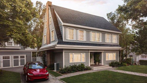 Tesla's Solar Roof met zonnecellen vanaf 2018 in Nederland