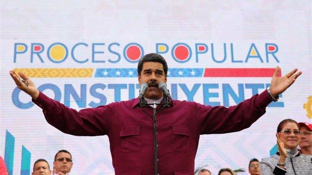Maduro niet bang voor sancties: 'Ik ben president van een vrij volk'