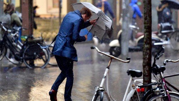 Regen, regen en nog eens regen: 'Het is een kletsnatte dag'