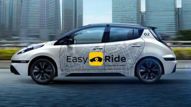 Nissan test in maart een dienst met zelfrijdende taxi's