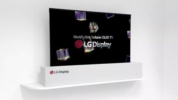 LG toont eerste oprolbare 4K-scherm