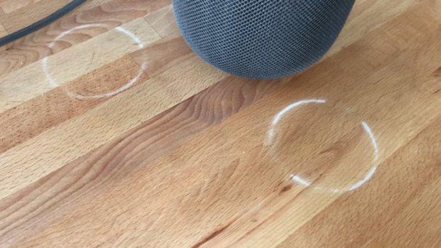 Apple HomePod geeft witte kringen op houten meubels