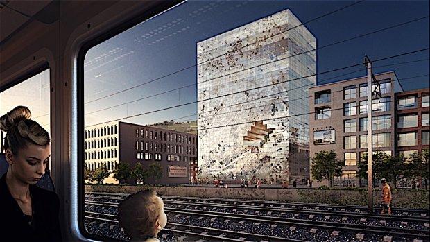 Architectuur met ingebouwde QR-code