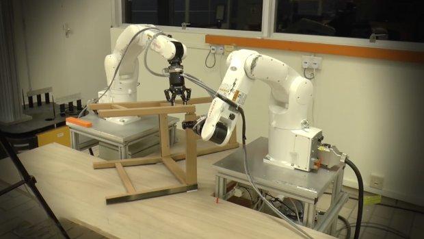 Robotarmen zetten Ikea-meubels in elkaar, zonder ruzie