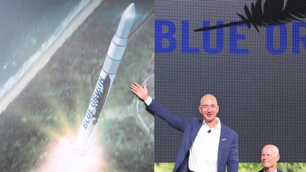 Herbruikbare raket Bezos wordt 'betrouwbaarder dan die van Musk'