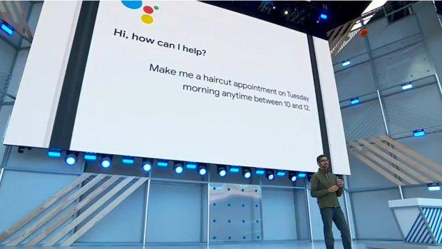 Google Assistant belt zelf met de kapper, mag dat?
