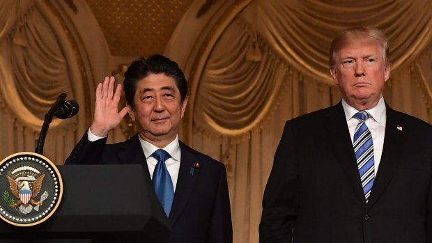 Trump ontmoet Japanse premier Abe nog voor Noord-Koreaanse top