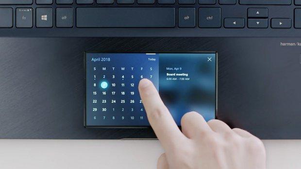 Asus-laptop heeft 'smartphone' als touchpad