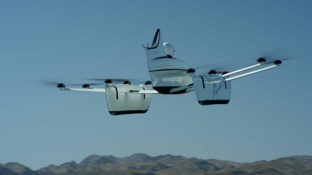 Eénpersoons 'vliegende auto' van Google-topman onthuld