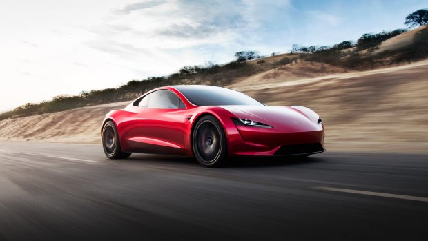 Tesla Roadster krijgt 'rocketboosters'