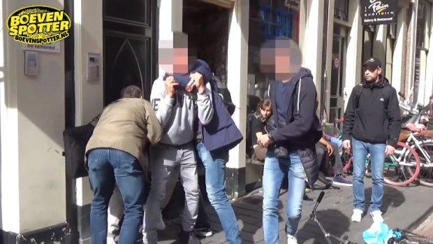 Video: spectaculaire aanhouding winkeldieven in Amsterdam