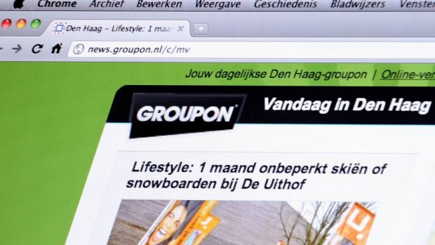 'Groupon is op zoek naar koper'