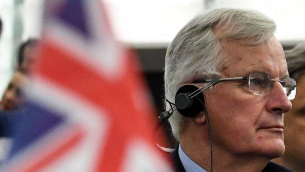 Persconferentie onderhandelaar Barnier over brexitdeal