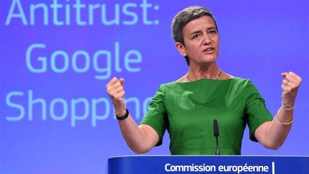 EU-Commissaris Vestager over miljardenboete Google