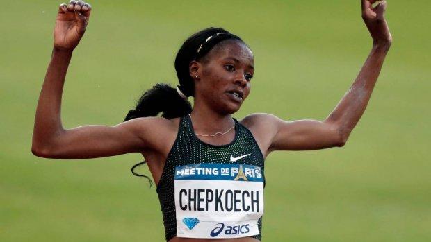 Chepkoech ruim onder wereldrecord 3000 steeple