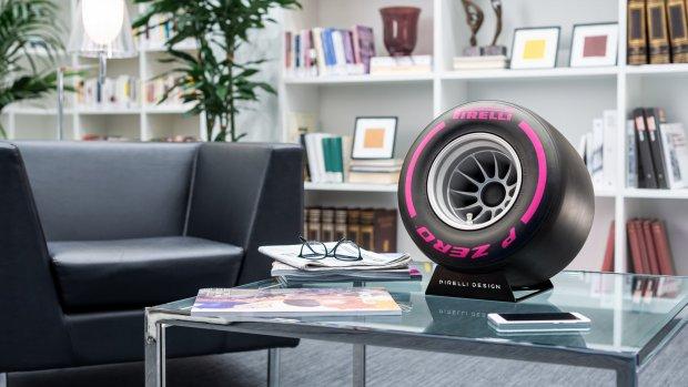 De speaker voor F1-fans: een Pirelli-band