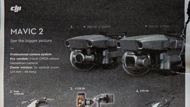 Twee nieuwe opvouwbare drones van DJI op komst