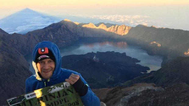 Jilco (36) stond op de top van de vulkaan Rinjani