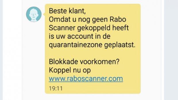 Even opletten: phishing-smsjes van Rabobank in omloop