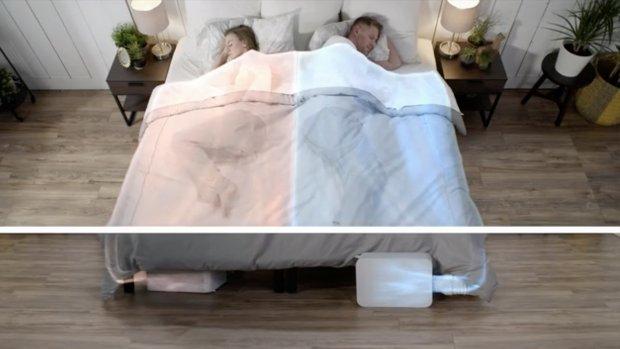 Elke kant van het bed een andere temperatuur