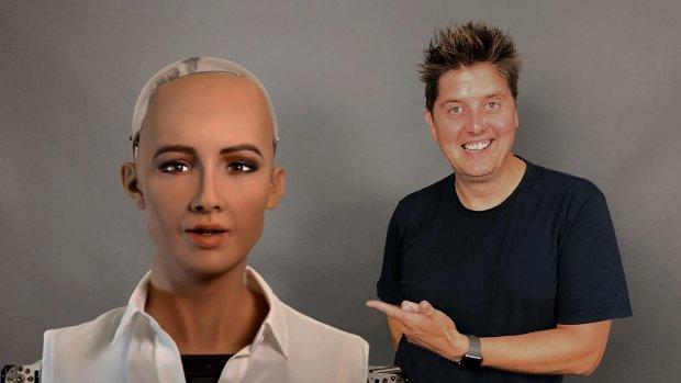 Meest mensachtige robot ter wereld Sophia bezoekt Nederland