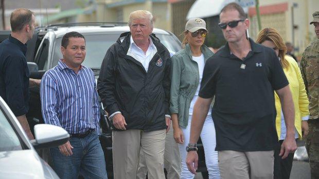 Donald Trump ontkent dodental door orkaan Maria in Puerto Rico