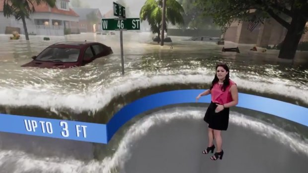Weather Channel toont impact orkaan met game-tool