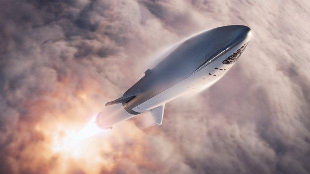Elon Musk toont nieuw ontwerp van SpaceX-raket