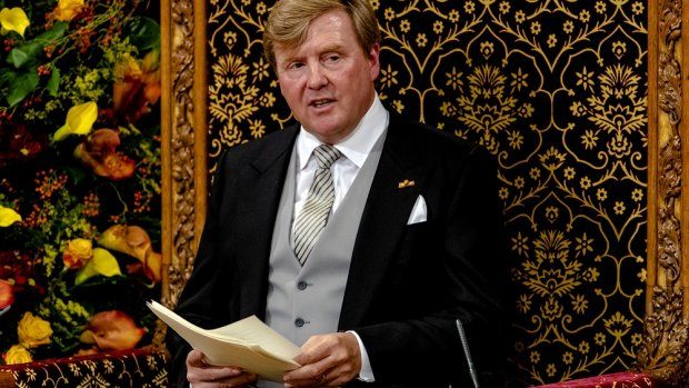 Ongerustheid op sociale media over zwetende koning: Was-ie ziek?